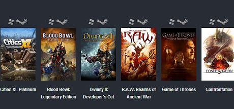 Cities XL Platinum, Blood Bowl Legendary Edition, Divinity II,  R.A.W., Game of Thrones, Confrontation