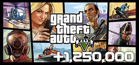 Grand Theft Auto V & Great White Shark Cash Card($1,250,000)