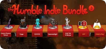 Humble Indie Bundle 3 (VVVVVV + Cogs + Hammerfight + And Yet it Moves + Crayon Physics Deluxe)