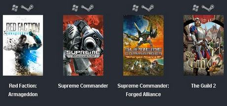 Red Faction: Armageddon + Supreme Commander+The Guild 2