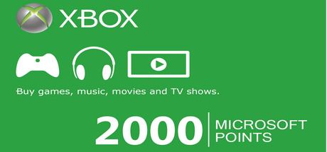 Xbox Live EU: карта 2000 Microsoft Points